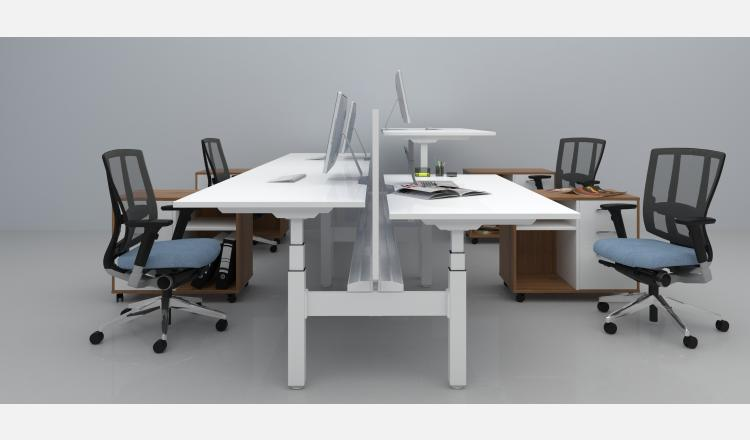 Scene Accent Summit desk pod sit to stand 139.5